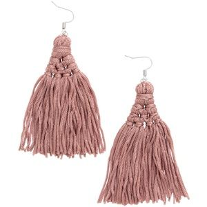 H&M Dusty Pink Tassel Earrings